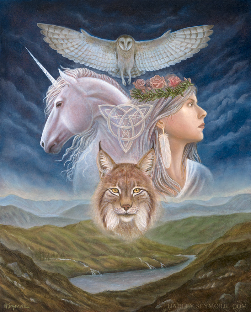 Four Pillars of the Triple Goddess by Hadley Seymore